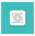 round button for business gear management vector image