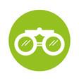 round icon binoculars cartoon vector image vector image