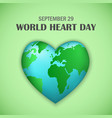 september world heart day concept background vector image