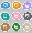 Server icon symbols Multicolored paper stickers vector image
