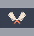 set butcher knives icons vector image vector image
