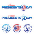 set elements or logos to happy presidents day vector image