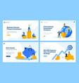 set flat design web page templates vector image