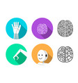 set humanoid robot icon in flat style vector image vector image