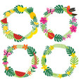 set isolated tropical wreaths vector image