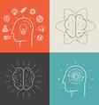 Set of education and knowledge vector image