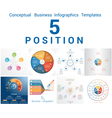 Set Templates Infographics positions 5 vector image vector image