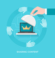 Sharing Quality Content vector image vector image