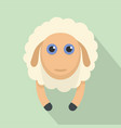 sheep smile icon flat style vector image vector image