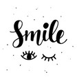 smile inspirational poster vector image vector image