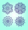 snowflake icon background set blue color vector image