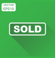 sold seal stamp icon business concept sold vector image vector image