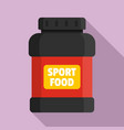 sport food jar icon flat style vector image vector image