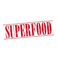 superfood red grunge vintage stamp isolated on vector image vector image
