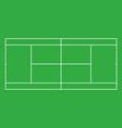 tennis court top view vector image