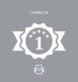 top rating - flat minimal icon vector image vector image