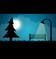 travel night cartoon landscape fir moon shop vector image vector image