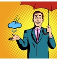 TV weather news reporter at work vector image