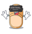 virtual reality home slippers icon in cartoon vector image