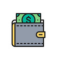 wallet with dollars save money invest vector image