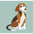 Yugoslavian tricolor hound vector image vector image