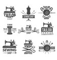 different labels or logos set for tailor shop vector image