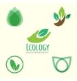 Ecology logos vector image