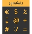 hand drawn Icons mathematical business vector image