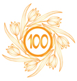 100th anniversary banner vector image