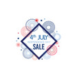 4th july exclusive offers sale sale poster vector image vector image