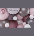 abstract background with 3d spheres balls are vector image vector image