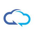 abstract cloud computing data vector image vector image