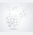 abstract globe symbol internet and social network vector image vector image
