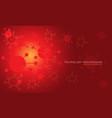 abstract technology danger red virus geometric vector image