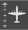 Airplane top view plane and