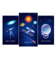 astrophysics isometric banners vector image