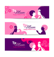 Banners for Happy Mothers Day vector image vector image