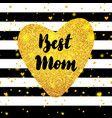 best mom gold postcard design vector image vector image