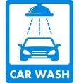 blue car wash icon vector image vector image