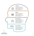 brain linear infographic Template for vector image vector image