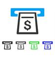cash machine flat icon vector image
