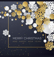 christmas background with golden and white paper vector image