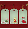 Christmas gift labels with elements of the vector image