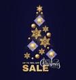 christmas tree christmas sale design template vector image vector image
