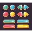 Color glossy buttons set for computer games vector image vector image