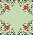 colorful round floral border corner background vector image