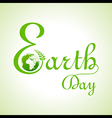 Creative happy earth day text and greeting vector image