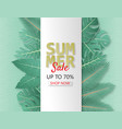 creative summer sale banner with papercut and vector image vector image