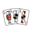 diamonds suit french playing cards related icon vector image vector image