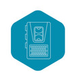 dictaphone icon outline style vector image vector image